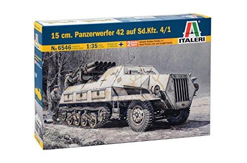 Italeri 510006546 1:35 Panzerwerfer 42 Maultier Halbk, Modellbau, Bausatz, Standmodellbau, Basteln, Hobby, Kleben, Plastikbausatz, detailgetreu, 15 cm