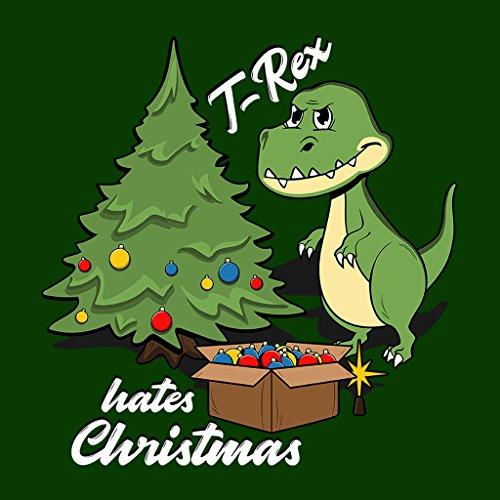T Rex Hates Christmas Women's Sweatshirt Bottle Green