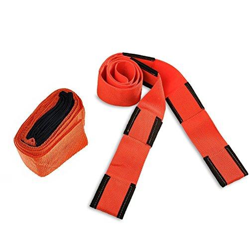 cojoie 272cm MOVE Seil Gürtel für für Lifting Möbel, TV, Kleiderschrank, Betten, orange Professional und gelegentliche Movers Haushalt Kleinteile Move House Seil Gürtel Carry Einrichtung Einfacher Tape Krawatte Movers Lifting Straps