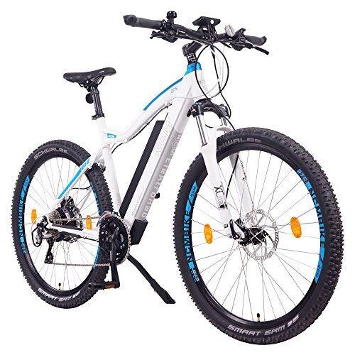 """NCM Moscow Plus Bicicleta eléctrica de montaña, 250W, Batería 48V 16Ah • 768Wh (27,5\"""" Blanco Plus)"""