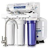 Sistema de filtrado de agua iSpring 75GPD de ósmosis inversa de 5 etapas con bomba...