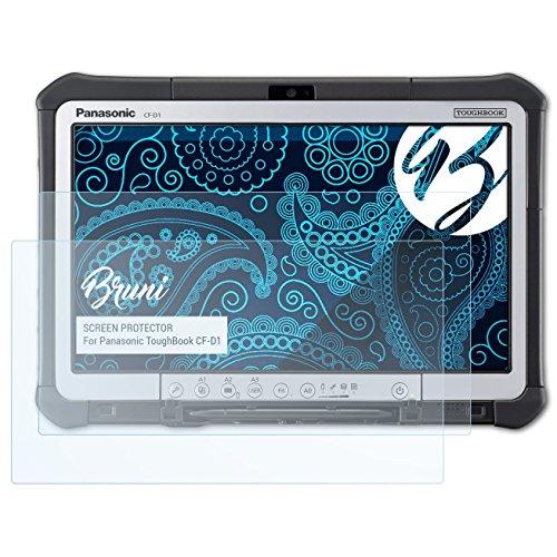 Bruni Schutzfolie für Panasonic ToughBook CF-D1 Folie, glasklare Displayschutzfolie (2X)