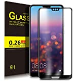 Huawei P20 Screen Protector Glass, KuGi Full Coverage Premium Tempered Glass Screen Protector [Edge to Edge] [9H Hardness] [HD Clear] [Bubble-Free Installation] [Scratch Resist][Touch Compatible] for Huawei P11/ P20 smartphone.Black