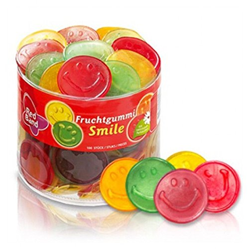 dutch tub Red Band Fruchtgummi Smile Sweet 1200g Full Tub - Dutch Candy & Sweets