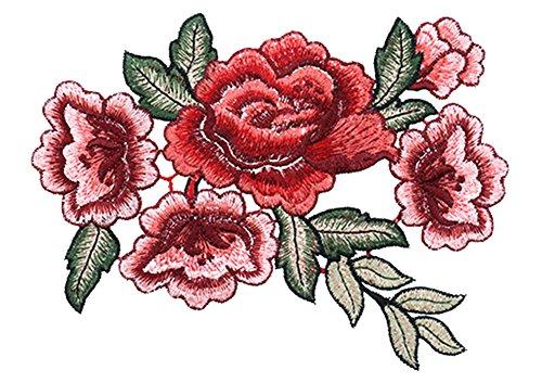 Blue Vessel Stickerei-Blumenbeet Annähen Abzeichen Tasche Hut von Jeans Kleid Applique Handwerk Kragen Krawatten (Patch-krawatte)