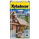 Xyladecor Alpin Langzeitschutz Holzlasur Seidenglänzend 5 Liter Farbton wählbar , Farbe:Kastanie