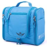 Valela Kulturbeutel zum Aufhängen-Wasserfeste Kosmetiktasche für Damen, Herren und Kinder-Premium Kulturtasche mit Haken, praktische Waschtasche, Waschbeutel/Toiletttasche in Blau