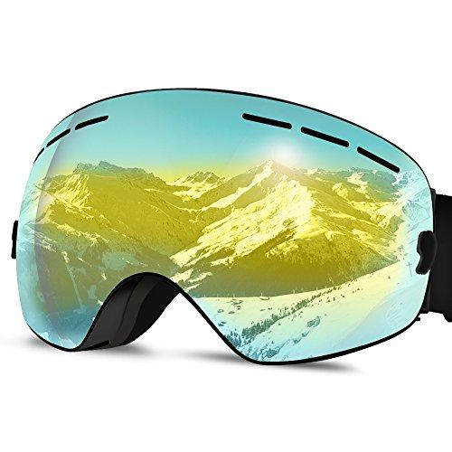 Jugend-snowboard-paket (Skibrille Skibrillen Snowboard Brille Doppel-Objektiv UV-Schutz Anti-Fog Skibrille Für Männer Frauen Jugend Schneemobil)