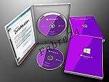 Microsoft® Windows 10 Pro DVD 64Bit Vollversion OEM Produkt Key Lizenz + Aufkleber Deutsch
