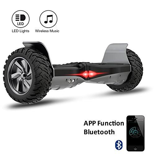 EVERCROSS Hoverboard Challenger Basic 8,5' Gyropode Tout-terrain Smart Skateboard Électrique de Boutique GyroGeek (Noir)