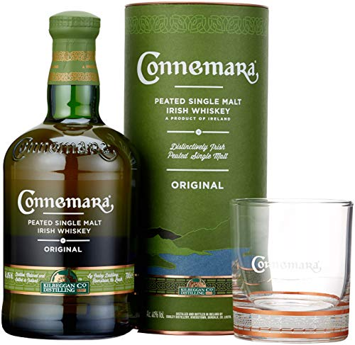 Connemara Peated Single Malt Irish Whiskey mit Glas (1 x 0.7 l)