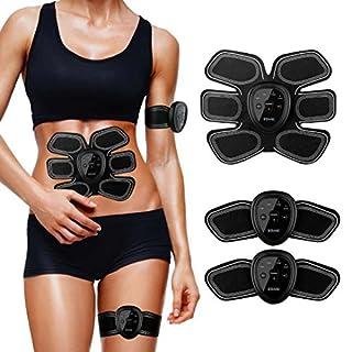 ESMK ABS Muscle Stimulator,Ems Stimulator Abdominal Abs Trainer Unisex Massage Toning Belt for Abdomen/Arm/Leg Training Gear