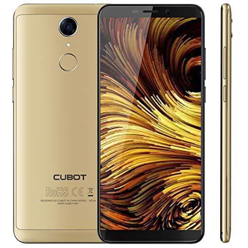 Cubot NOVA 4G-LTE Dual SIM Smartphone ohne Vertrag 5.5 Zoll (18:9) IPS HD Touch Display Android 8,1 3GB RAM+16GB ROM 13MP+8MP Kamera 0.1s Fingerprint Sensor Handy Gold