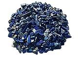250g Lapislazuli Kies feine Edelstein Körnung Lapislazuli Kiesel blau Aquarium Kies Durchmesser ca. 15mm bis 7mm Halbedelsteine Wasserteine Dekosteine Lapislazuli von CRYSTAL KING