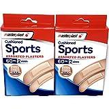 Gepolsterte Sport sortiert Pflaster–120in Total–Box enthält 2Größen