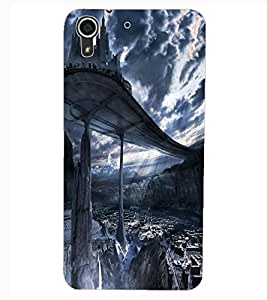 ColourCraft SkyWalk Castle Design Back Case Cover for HTC DESIRE 626G+