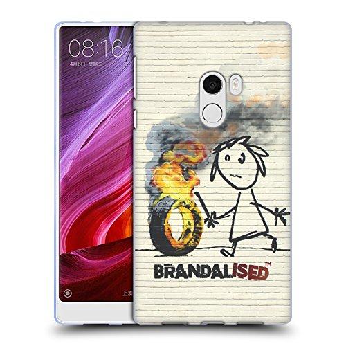 Preisvergleich Produktbild Offizielle Brandalised Brennender Reifen Street Kunst Soft Gel Hülle für Xiaomi Mi Mix