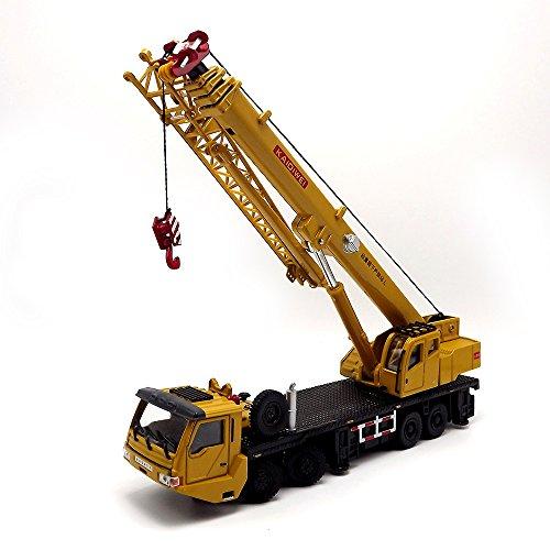 (eMart Kinder Alloy Diecast Modell Spielzeug Technik Schwere Kran-LKW-Träger-Auto Simulation Miniatur 1:55 Gelb Geschenk)