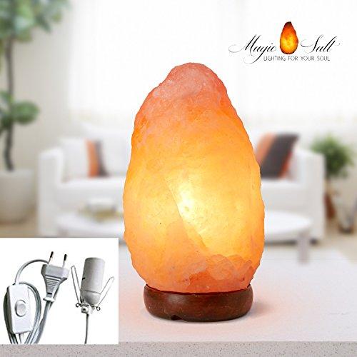 Lampada di sale Salgemma dell'Himalaya 2-3 kg MAGIC SALT LIGHTING FOR YOUR SOUL nella scatola originale
