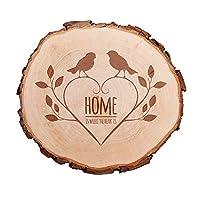 La fetta di tronco d'albero con incisione romantica per coppie - un prodotto di qualità da Casa Vivente! È consuetudine per le giovani coppie immortalare i loro nomi o le loro iniziali su molteplici oggetti...