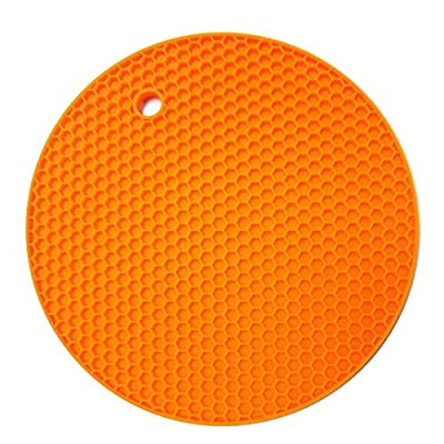 Hosaire 18*18cm Durable Heat Resistant Silicone Table Mat Placemat Non-slip Pan Pot Holder Cushion Pad Round Multicolor