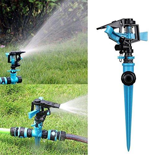 QAZWSX Gartensprenger, Justierbare 360 Grad-Automatische Drehen Doppelten Einlass-Wasser-Sprüher Für Hauptrasen-Bewässerung Garten-Bewässerung Ho Sprinkler - Rotierende Einlass