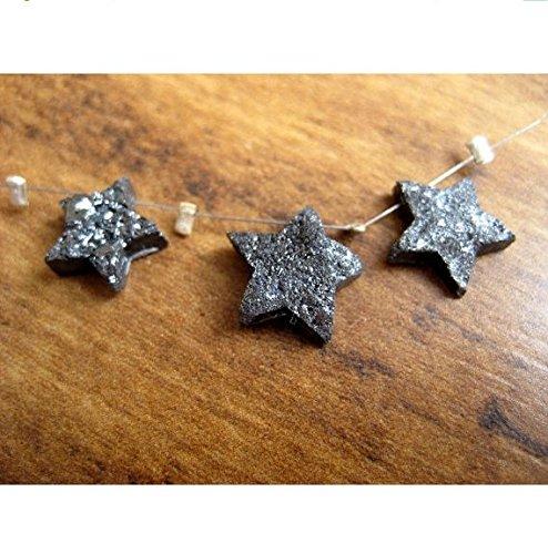 Star Diamond, 3pezzi, diamanti grezzi, laser taglio diamante, stella collana, diamante grezzo, coppia 8mm ciascuno, distanza focale ciondolo-D31