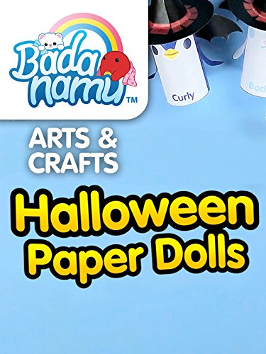 Cute Crafts Kid Halloween (Badanamu Arts & Crafts EP7: Halloween Paper Dolls)