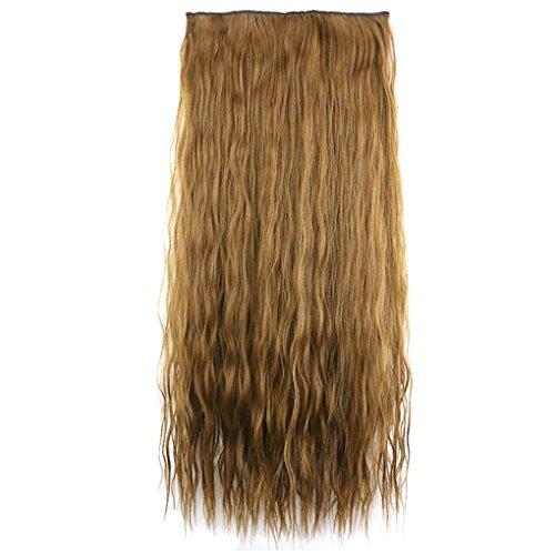 chunyang Lockiges langes Haar-nahtlose Verlängerung Haarteil-Pferdeschwanz-Perücken für Mädchen (Volle Spitze Menschliches Haar Verlängerung)