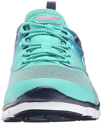 Skechers Sport Fabulosity moda della scarpa da tennis Navy Green