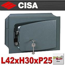 CISA - Cassaforte sicurezza con chiave a muro L42xH30xP25 cm 8A010/41