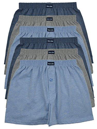 MioRalini TOPANGEBOT Boxershorts farbig weich & locker in neutralen Farben klassischen Unifarben Herren Boxershort, 6 Stück Set 2, XL-7