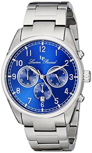 Lucien Piccard Moderna Homme 42mm Bracelet & Boitier Acier Inoxydable Quartz Cadran Bleu Montre 10588-33