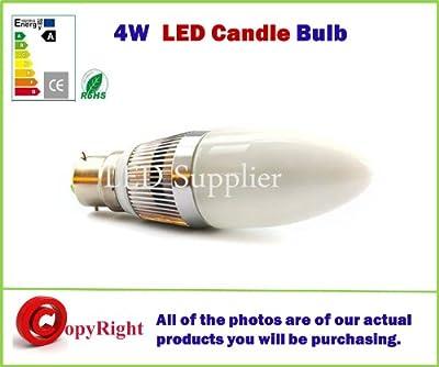 Bajonettsockel B22 4W Kerze LED Kerzenlampe Glühbirne for Kronleuchter/Kandelaber,warmes Weiß 3000K,Energy Saving, Offres spéciales disponibles