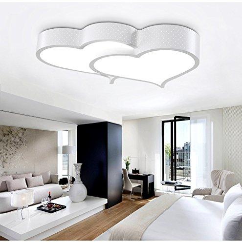 XQK Deckenleuchte led Cartoon lampe Versprechen Schlafzimmer Jungen und Mädchen Herz - Phase 3: Farbe Licht 58 * 42