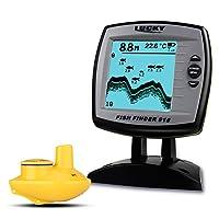 Lixada Fish Finder FF918-WS Wireless Sonar Depth 125KHz Sonar Frequency Fish Locator Boat Fishfinder Fish Detector 2