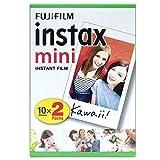 Instax Fujifilm Mini Sofortiger Film, Weiß, 2 x 10 Blatt (20 Blatt)