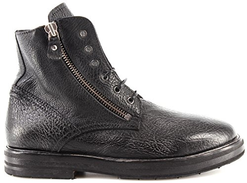 Moma Chaussures Homme Bottes 69701-RA Ruga Nero Cuir Noir Vintage Made In Italy