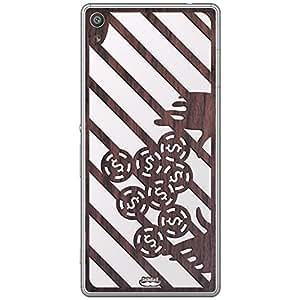 Inkdad Sony Xperia XA Cool Gamblers Art cut-out on Pure Rose Wood Skin (Brown)