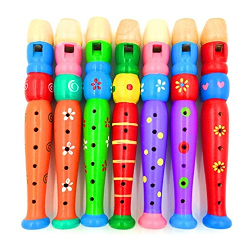 huer-multi-color-baby-kids-wooden-horn-hooter-trumpet-instruments-music-toys