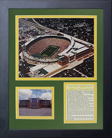 Legends Never Die Green Bay Packers New Lambeau Field Framed Photo Collage, 11x14-Inch by Legends Never