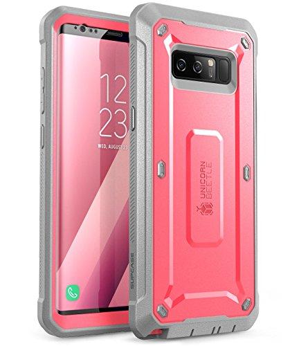 SUPCASE Hülle Kompatibel für Samsung Galaxy Note 8 Handyhülle 360 Grad Bumper Case Stoßfest Schutzhülle Cover [Unicorn Beetle PRO] mit Gürtelclip und eingebautem Displayschutz, Pink (Note4 Us Cellular Samsung Galaxy)