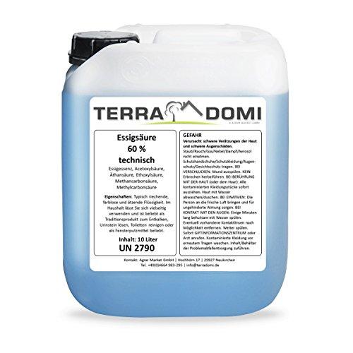 10 Liter Essigsäure 60% Original TerraDomi
