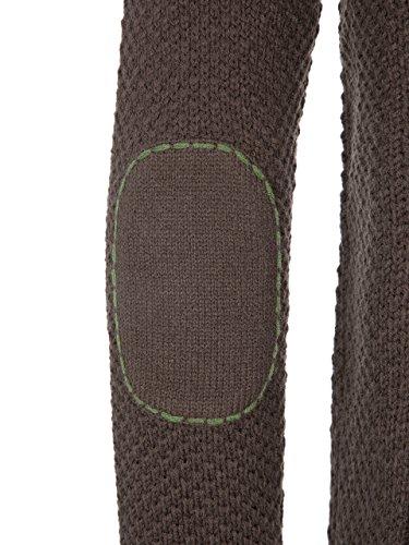 Almbock Strickjacke Tracht Braun | Strickjacke XL mit Reißverschluss | Herren Trachten Jacke in Braun Größe XL - 4