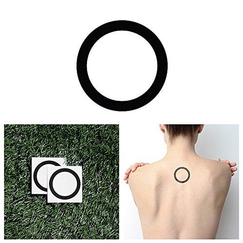Tattify Dicke Linien Kreis TemporŠre Tattoos- Kaurssell (Set mit 2)