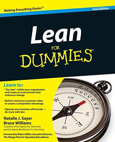 Lean For Dummies - Management Für Dummies