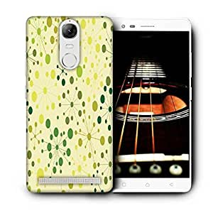 Snoogg Green Spots Printed Protective Phone Back Case Cover For Lenovo K5 Note