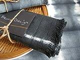 Tischtücher graue Schieferfarbe,Shibori, 4 große tischsets, Küchentextilien handgefertigt von BeccaTextile.