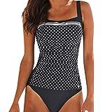 NPRADLA Damen Mädchen Badeanzug-Bikini Mit Hoher Taille Und Blattdruck