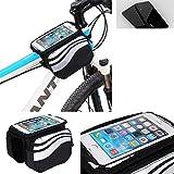 Für Huawei P20 Rahmenhalterung Fahrradhalterung Fahrrad Rahmentasche Handyhalterung Fahrradtasche Handy Smarpthone Frame Bag Halterung Bike mount für Huawei P20 Wasserabweisend, silber-schwarz - K-S-Trade